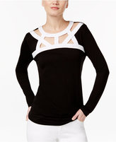 INC International Concepts Cutout Colorblocked Top, Created for Macy's