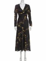 Thumbnail for your product : Lake Studio Floral Print Long Dress Black