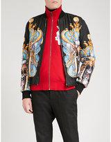 Versace Palace-print satin bomber jacket