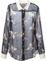 Piccione Piccione Piccione.Piccione - bee print sheer shirt - women - Silk - 44