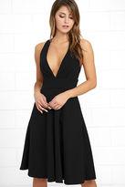 LuLu*s Finesse Black Midi Dress