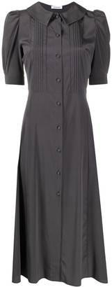 P.A.R.O.S.H. Pleated Silk Shirt Dress