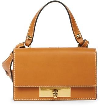 Alexander McQueen Small Skull Lock Leather Top Handle Bag