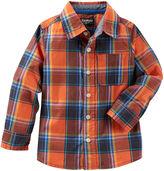 Osh Kosh Oshkosh OshKosh Bgosh Long-Sleeve Orange Woven Shirt - Toddler Boys 2t-5t