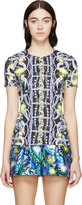 Peter Pilotto Blue and Green Patterned Ts Blouse
