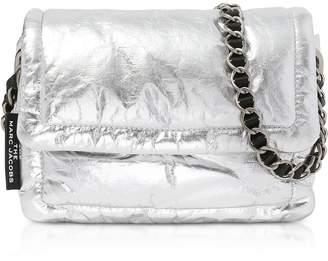 Marc Jacobs The Metallic Pillow Platinium Lamb Leather Shoulder Bag
