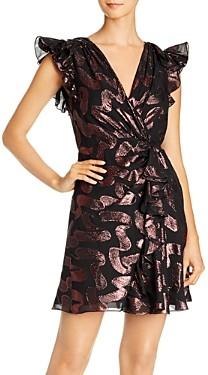 Rebecca Taylor Ruffled Cap Sleeve Jacquard Dress