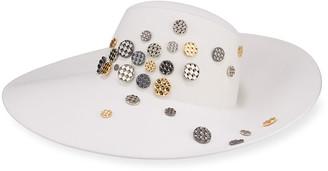 Maison Michel Big Kate Large Brim Hat w/ Diamond Coins