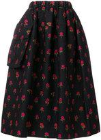 Simone Rocha rose embroidered pocket skirt