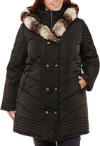 KC Collections Heavyweight Hooded Puffer Jacket-Plus