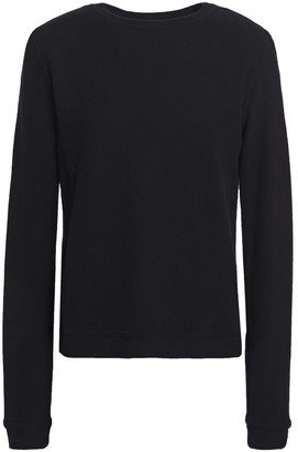 Enza Costa Melange Cotton And Cashmere-blend Top