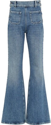 Miu Miu Sailor Fastening Flared Jeans