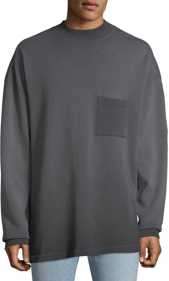 Yeezy Men's Long-Sleeve Cotton Sweatshirt