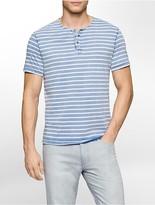Calvin Klein Slim Fit Washed Stripe Henley Shirt