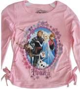 Disney Little Girls Frozen Character Wintery Frame Long Sleeved Shirt