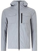 J. Lindeberg Jonah Hooded Crinkle Jacket, Light Blue/grey