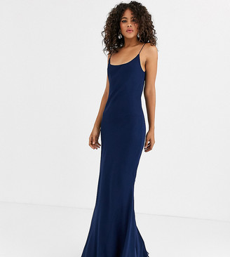 Asos Tall DESIGN Tall floaty cami maxi dress-Blue