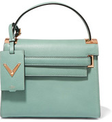 Valentino My Rockstud Small Textured-leather Tote - Mint