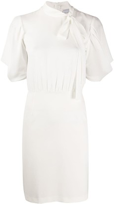 Be Blumarine Tied-Neck Fitted Dress