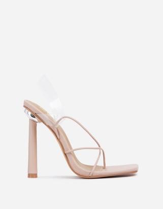 Ego x Molly-Mae Comethru strappy sandals in beige