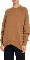 Givenchy Cashmere-Wool Button-Side Sweater