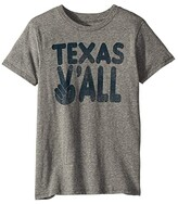 Tiny Whales Texas Y'All Short Sleeve Tee (Infant/Toddler/Little Kids/Big Kids) (Tri Grey) Kid's Clothing