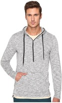 Publish Haro - Heathered Speckle Terry Hoodie with Flat Bottom Long Back Hem