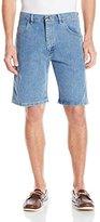 Wrangler Men's Rugged Wear Advanced Comfort Relaxed Fit Bleach Wash Short
