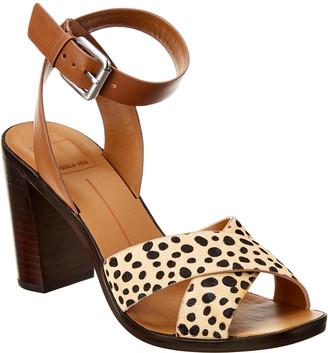 Dolce Vita Nala Leather & Haircalf Sandal