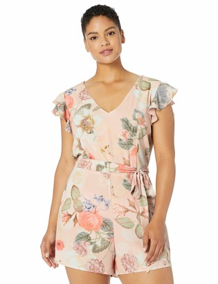 City Chic Women's Apparel Women's Plus Size Playsuit Summer Rose X-Small