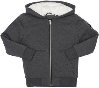 Moose Knuckles Hooded Zip-up Cotton Jacket W/ Faux Fur