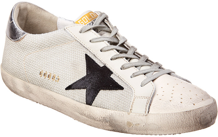 Golden Goose Leather & Mesh Sneaker