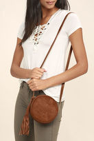 LuLu*s Out of the Woods Brown Suede Leather Purse
