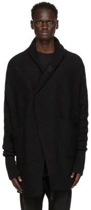 Julius Black Shawl Collar Cardigan