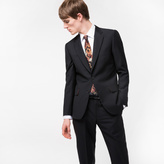 Paul Smith Men's Classic-Fit Black Wool-Mohair 'A Suit To Travel In'