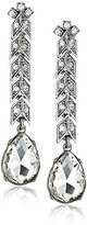 Kenneth Jay Lane Bride Clear Crystal Arrow Post Drop Earrings