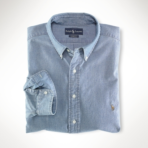 Polo Ralph Lauren Big & Tall Classic Light Wash Chambray