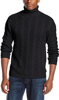 Alex Stevens Men's Cable Turtleneck Sweater