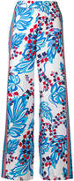 P.A.R.O.S.H. floral print palazzo trousers