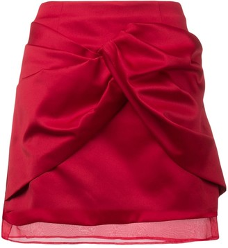 Brognano Draped Front Mini Skirt