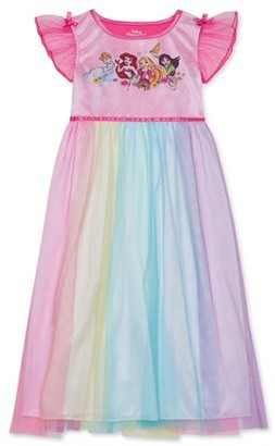 Princess Girls Disney 4-8 Pajama Nightgown