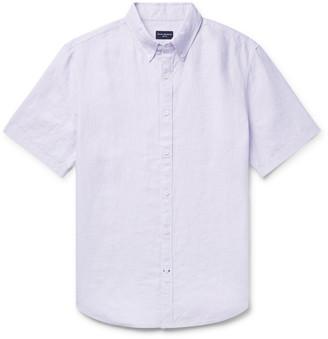 Club Monaco Slim-Fit Button-Down Collar Slub Linen-Chambray Shirt