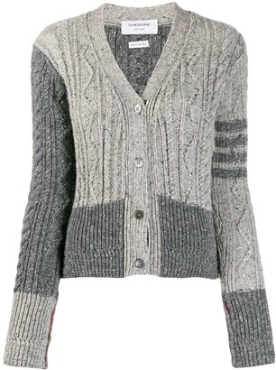 Thom Browne Fun Mix cable-knit cardigan