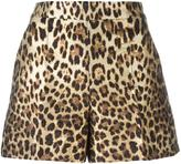 RED Valentino leopard print shorts - women - Cotton/Polyamide/Polyester/Acetate - 42
