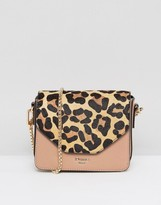 Dune Interchangeable Leopard Print & Blush Crossbody Bag