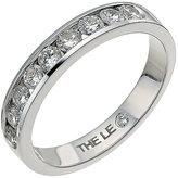 Leo Diamond platinum 0.50ct I-P1 diamond eternity band
