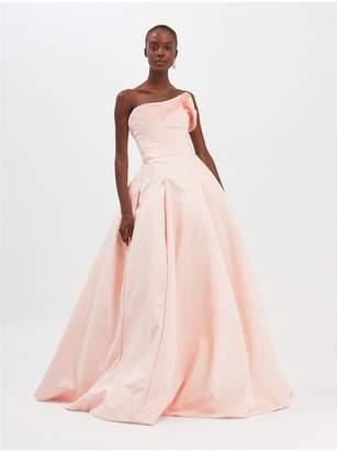 Oscar de la Renta Moire Faille Gown