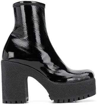 Miu Miu Platform Ankle Boots