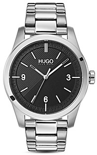 HUGO #Create Link Bracelet Black Watch, 40mm
