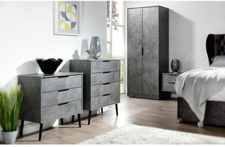Swift Berlin Ready Assembled 3 Piece Package - 5 Drawer Chest and 2 Bedside Chests